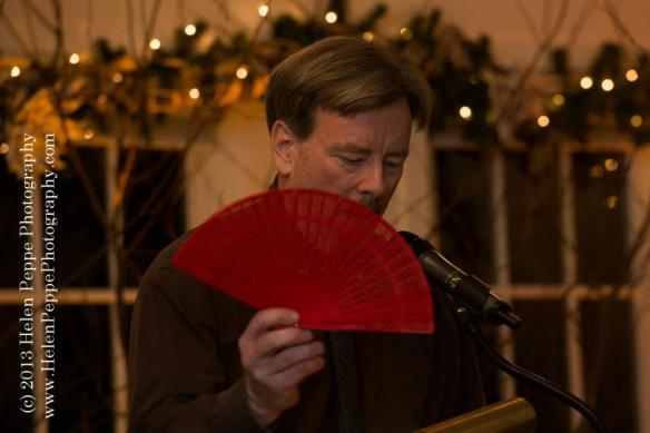 Jim Kelly with Fan