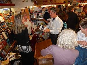 Suzanne Stempek Shea with readers at a recent event.